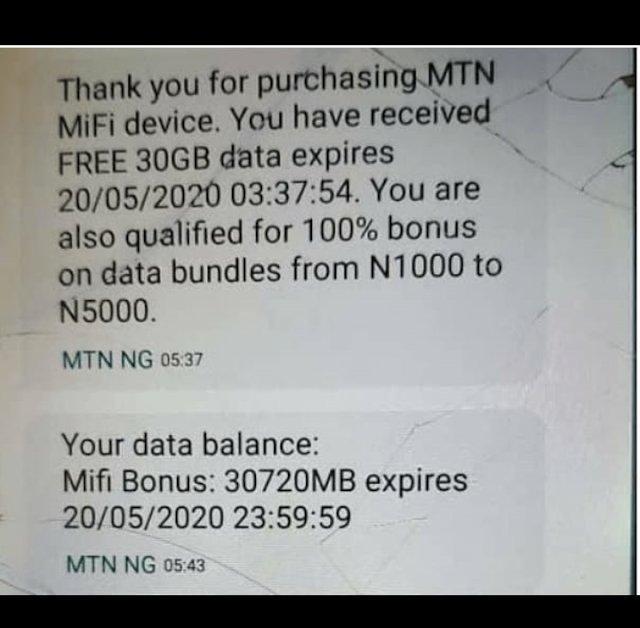 mtn free 30GB
