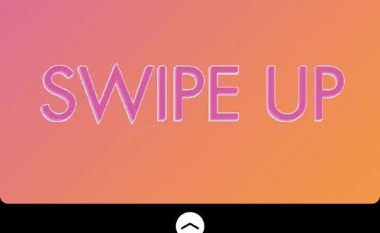 use instagram swipe up feature