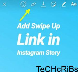 use instagram swipe up feature